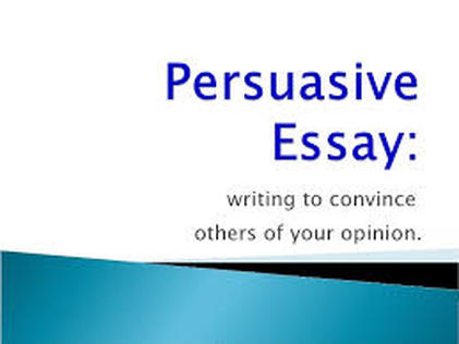 persuasive essay th grade language arts